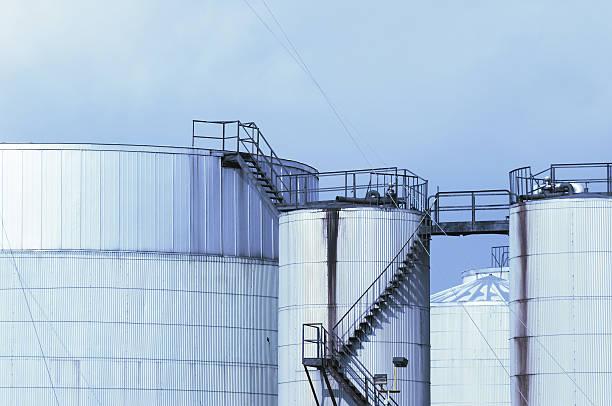 Manufacturing Plant, Blue Skyline stock photo