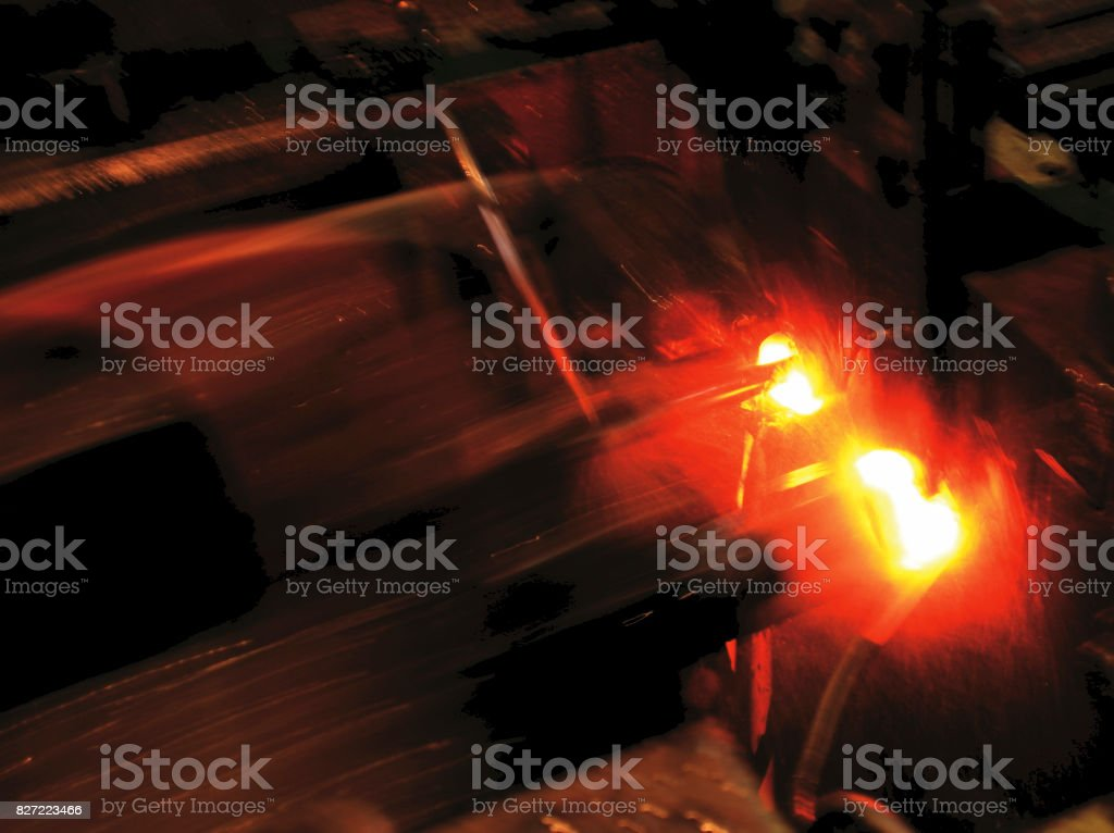 manufacturing process of nuts stock photo