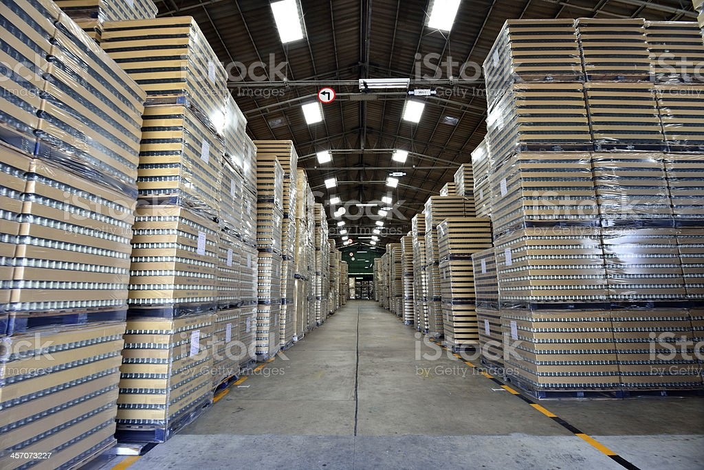 Manufacturing warehouse royalty-free stock photo