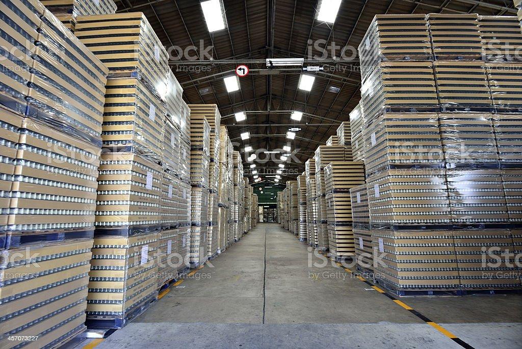 Manufacturing warehouse stock photo