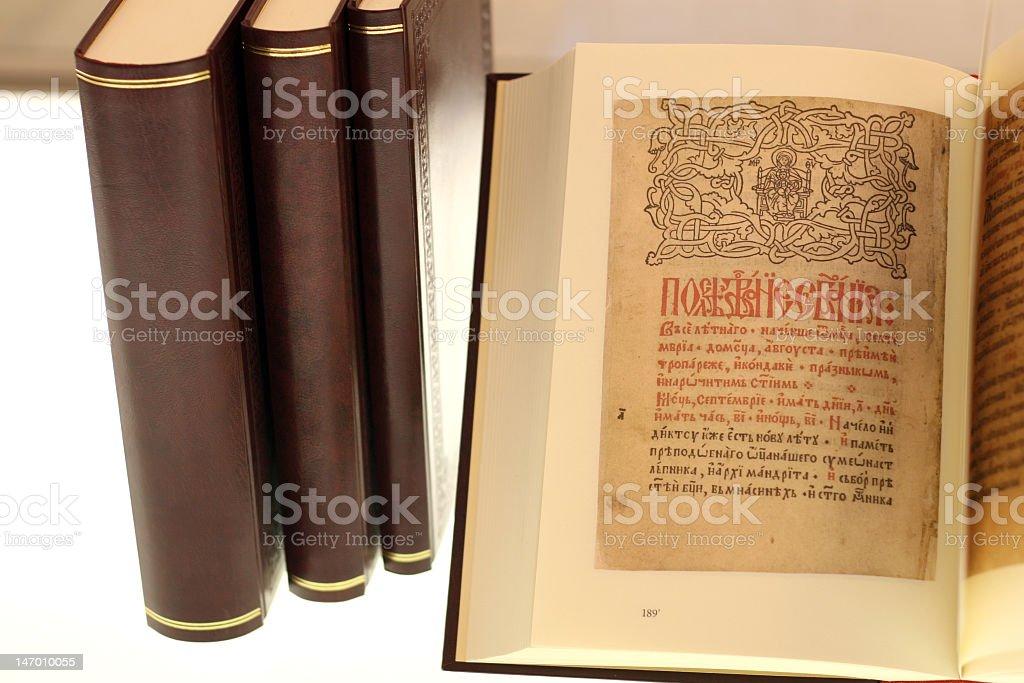 Manuscript Books stock photo