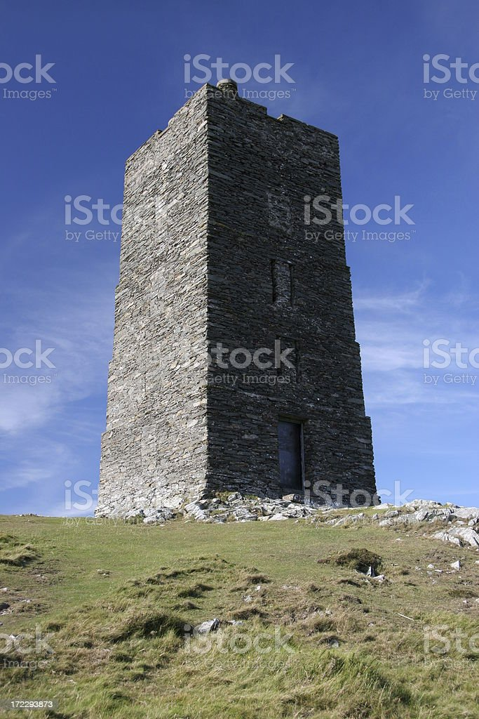 Manx Watchtower royalty-free stock photo