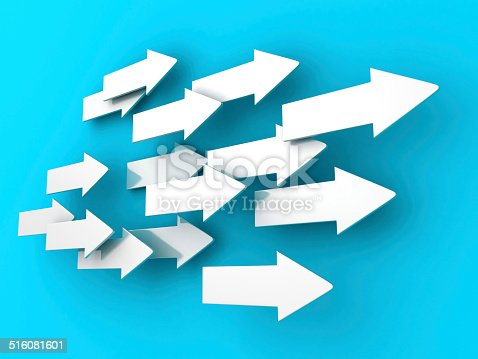 157434064 istock photo many 3d arrows flow in same direction 516081601
