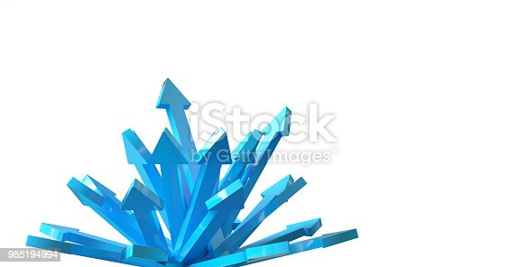 157434064 istock photo Many 3d arrows flow in same direction 985194994