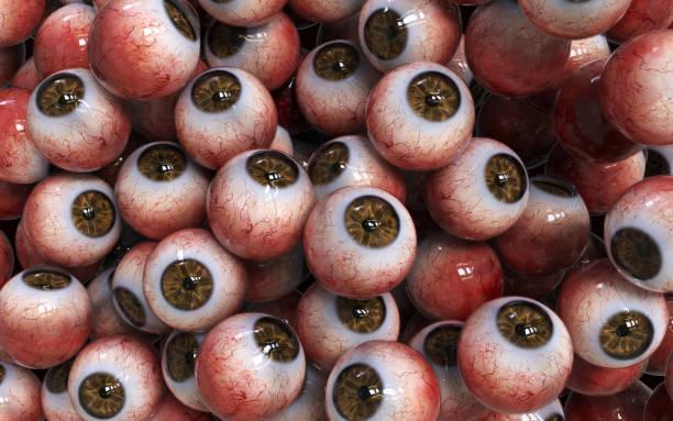 Veel Abstract bruin oogbollen Closeup foto