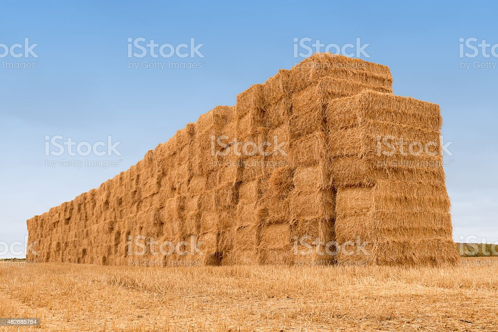 many balestraw stacked texture background stock photo