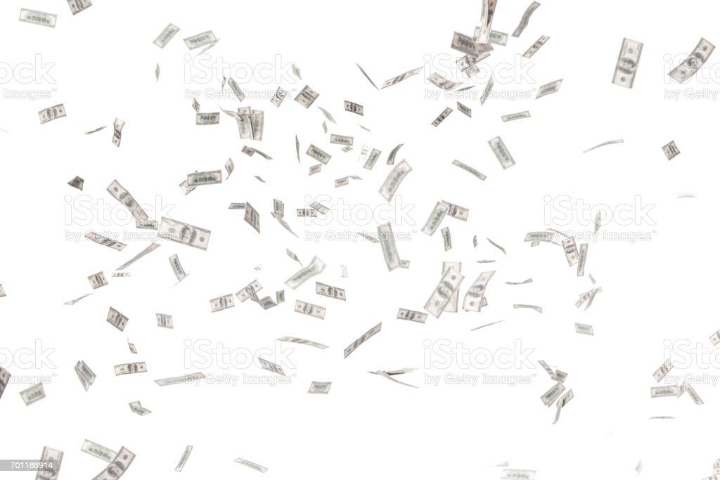 吹了很多鈔票。圖像檔