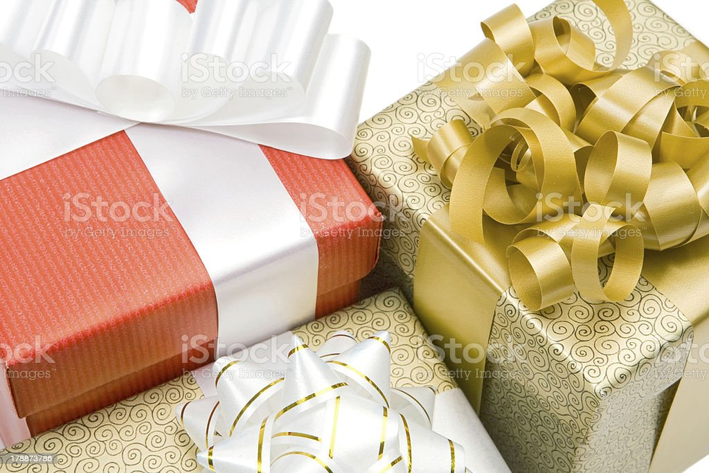 Many beautiful gifts royalty-free stock photo