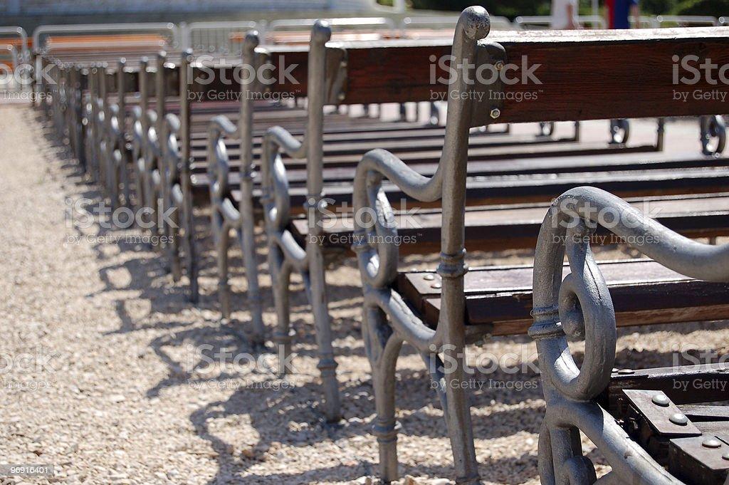 Many benches royalty-free stock photo