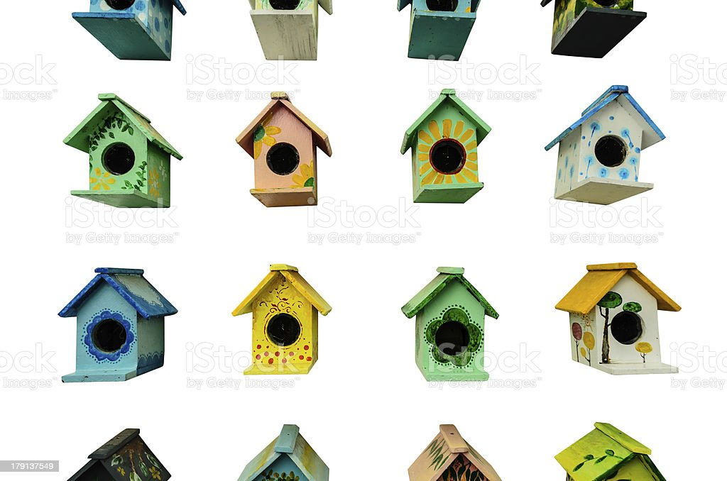 many bird cage royalty-free stock photo