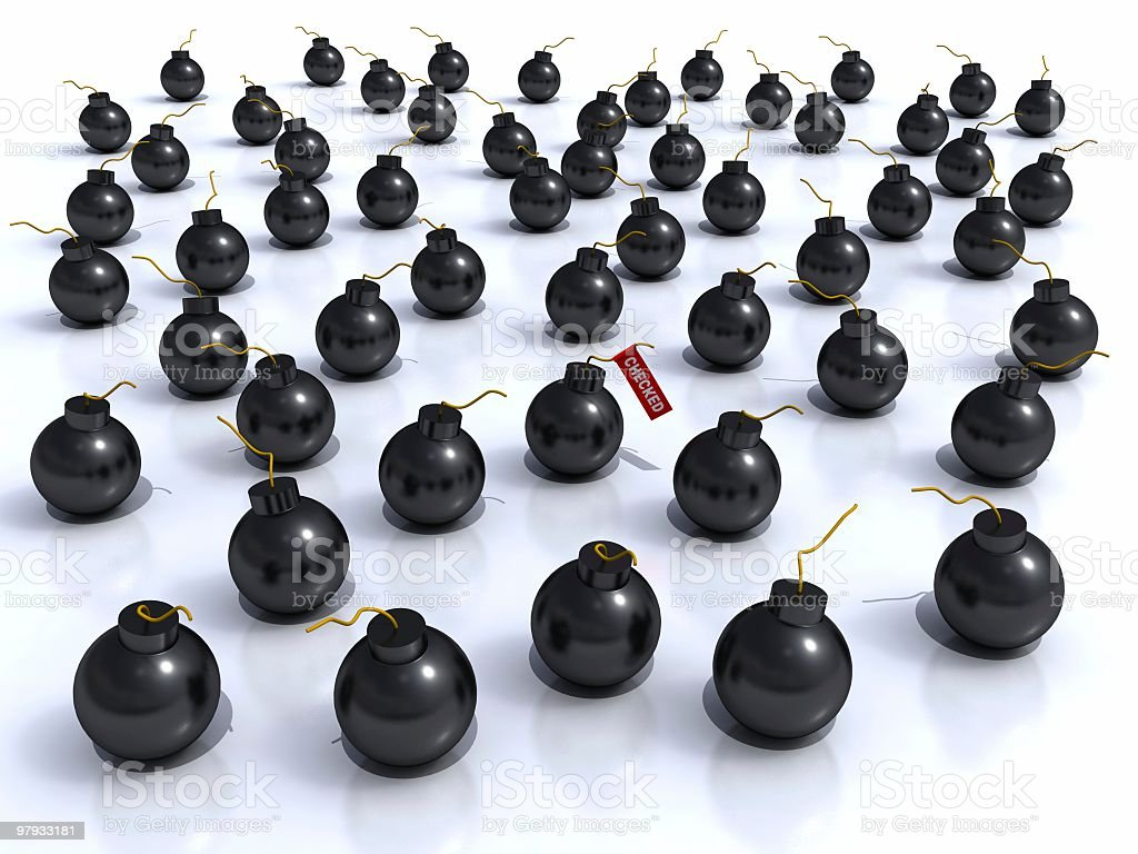 Many bomb royalty-free stock photo