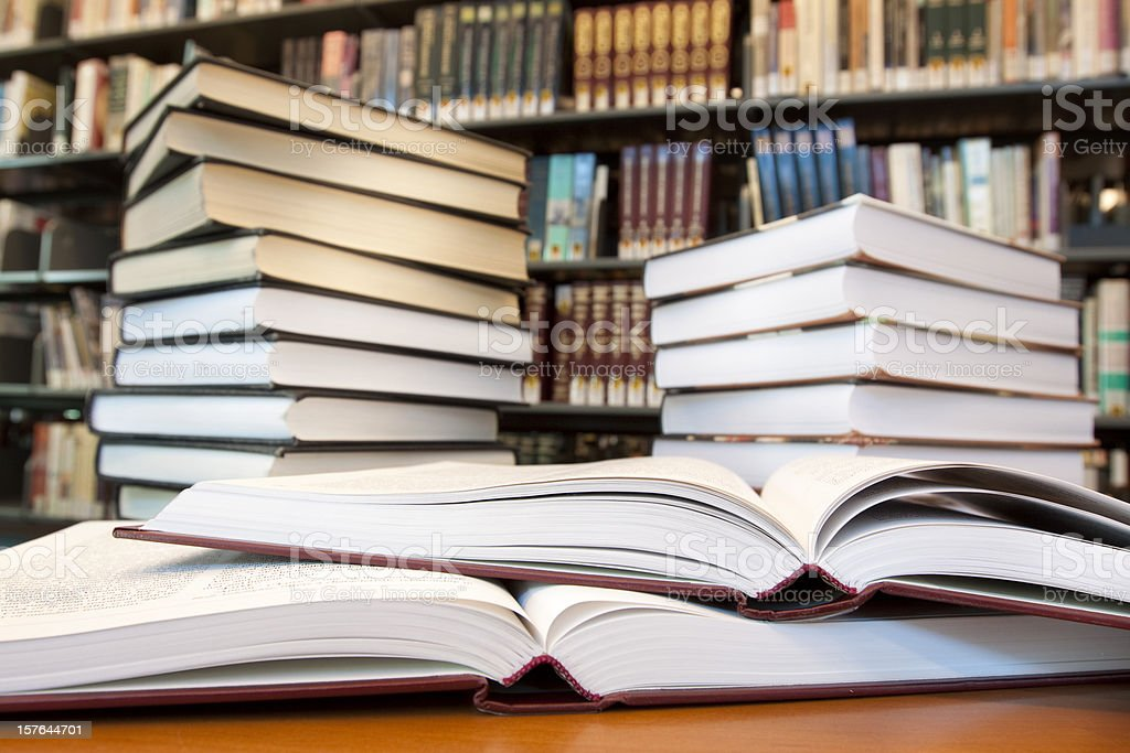 Many books in law firm - vertical royalty-free stock photo