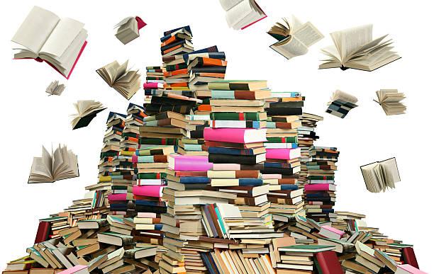 Muchos libros - foto de stock