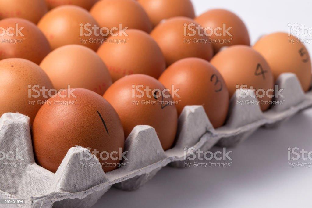 De brun oeuf dans des boîtes. - Photo de Aliment libre de droits