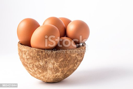 Many Brown Eggs In Boxes Stock Photo & More Pictures of Baking