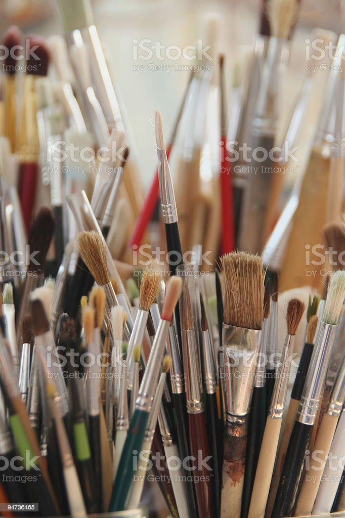 Many Brushes royalty-free stock photo