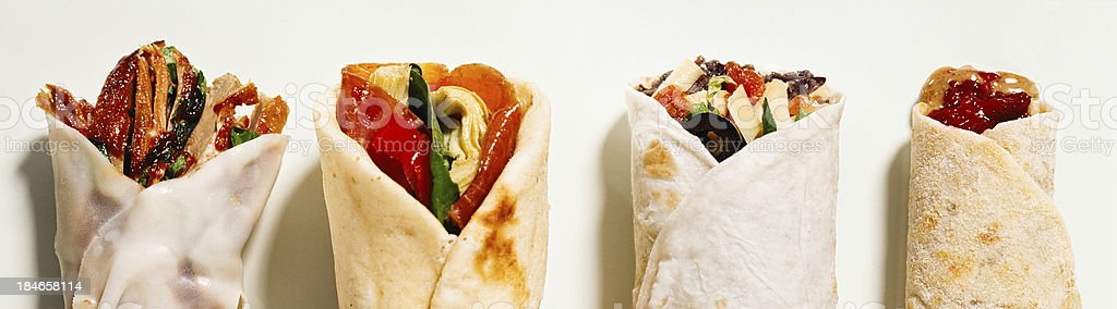 Many burritos stock photo