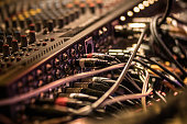 istock Many cables on the music recording mixer 908564032