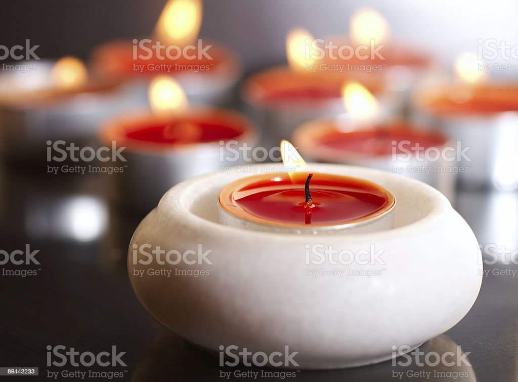many candles royalty-free stock photo
