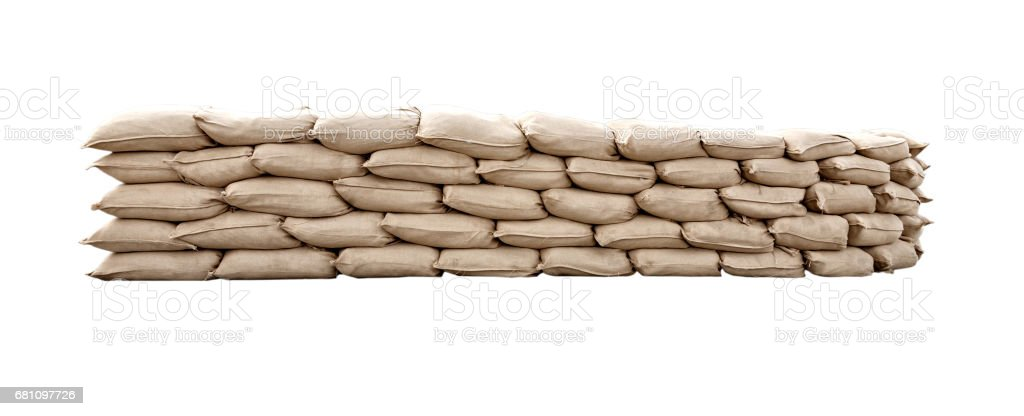 Many canvas bags stacked in a pile stock photo