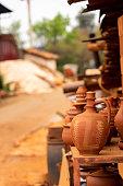 Many Ceramic Handmade Utensils, Made of Clay