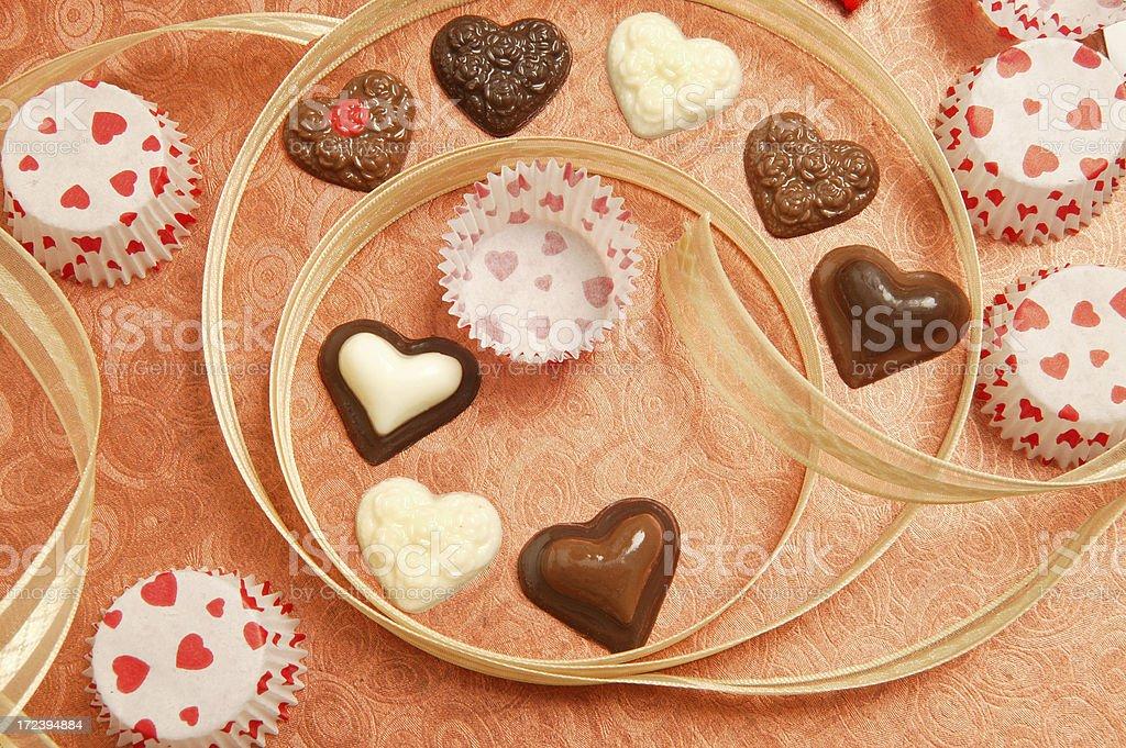 many chocolate heart royalty-free stock photo
