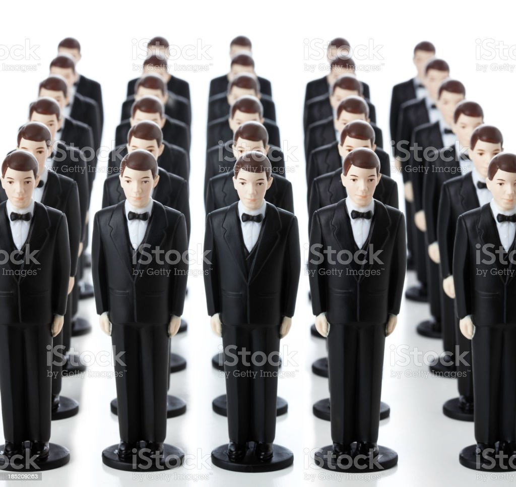 Many Clones royalty-free stock photo