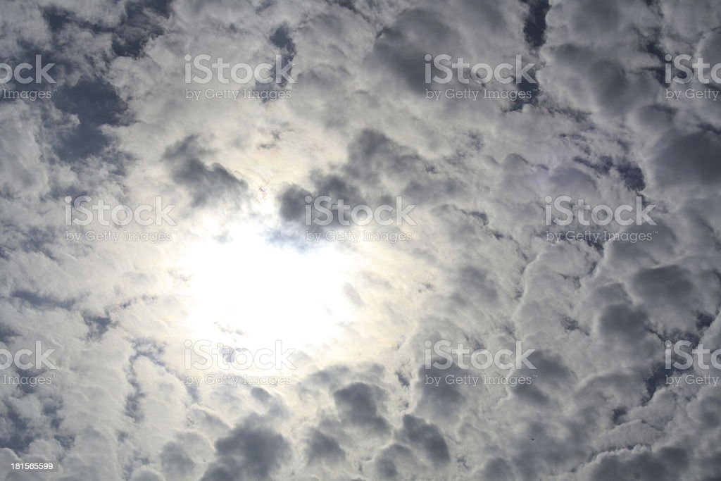 many clouds in the sky royalty-free stock photo