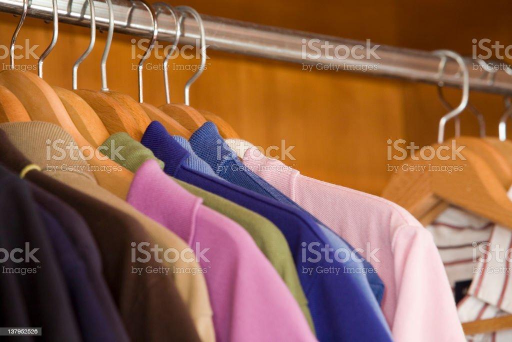 Many color Polo shirts royalty-free stock photo