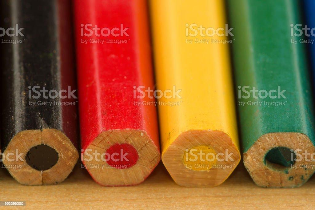 many colored pencils - Zbiór zdjęć royalty-free (Białoruś)