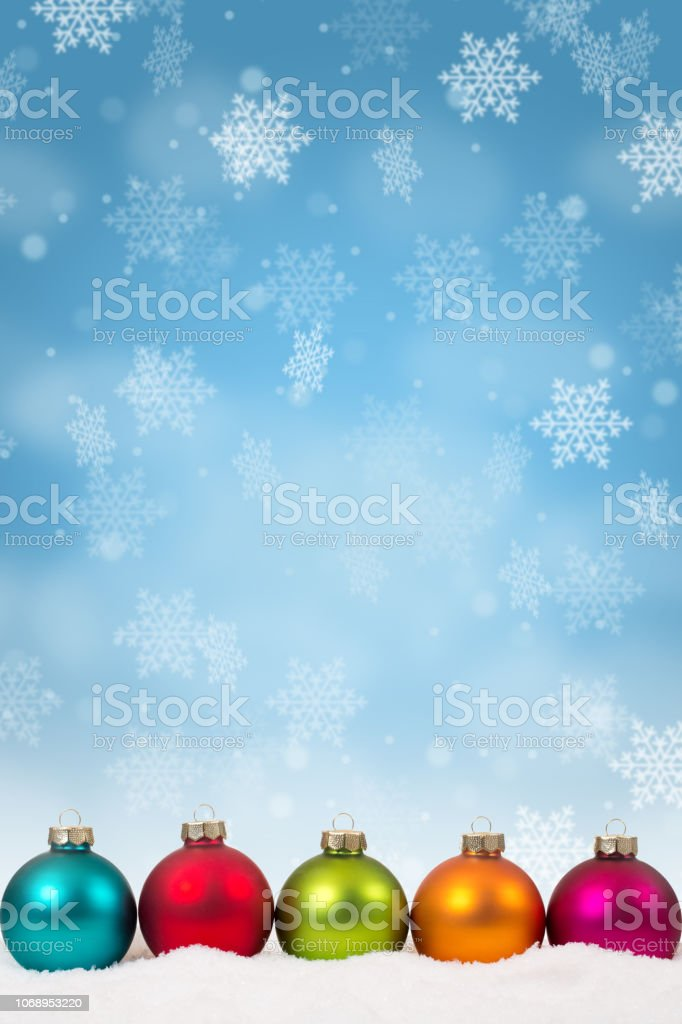 Many Colorful Christmas Balls Baubles Background Decoration
