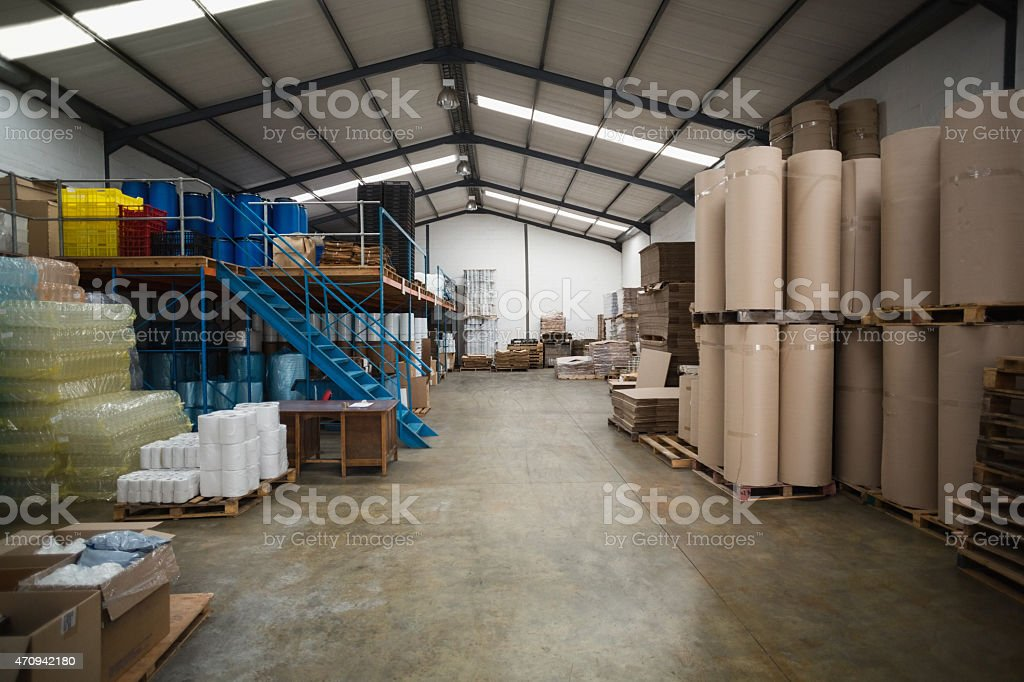 Many containers and plastic packaging stock photo