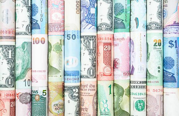 molte valute - mercato luogo per il commercio foto e immagini stock