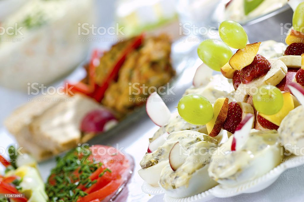 Many decorated fresh food royalty-free stock photo