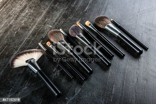 847152782 istock photo many different application cosmetic brush set 847152518