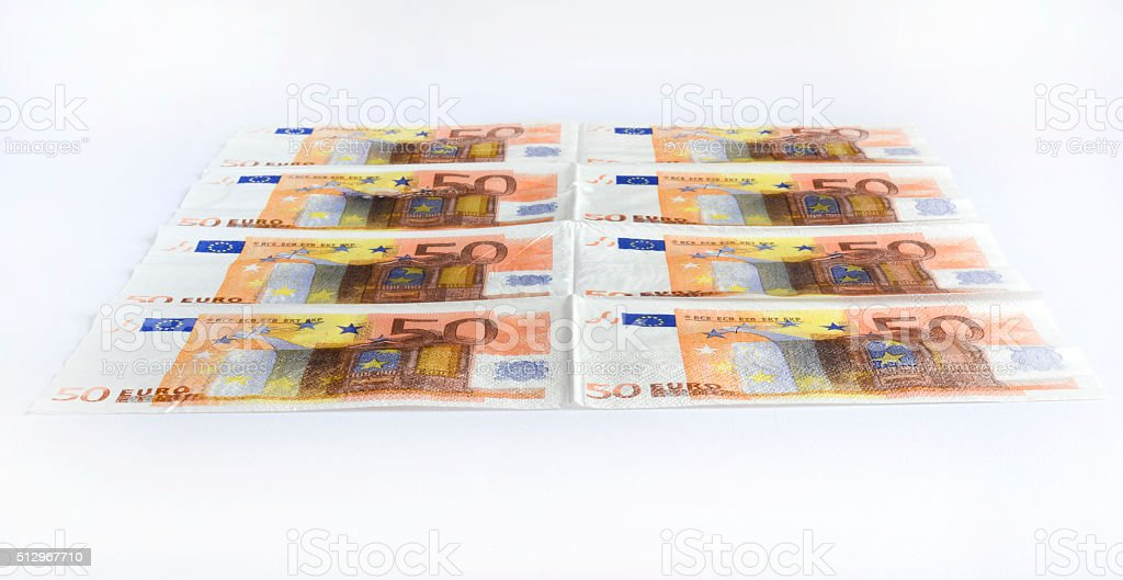 Many different euro banknotes stock photo