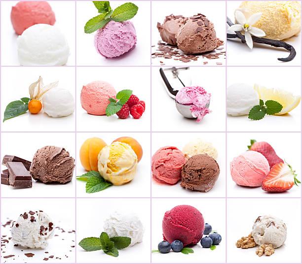 Muitos diferentes bolas de sorvete - foto de acervo