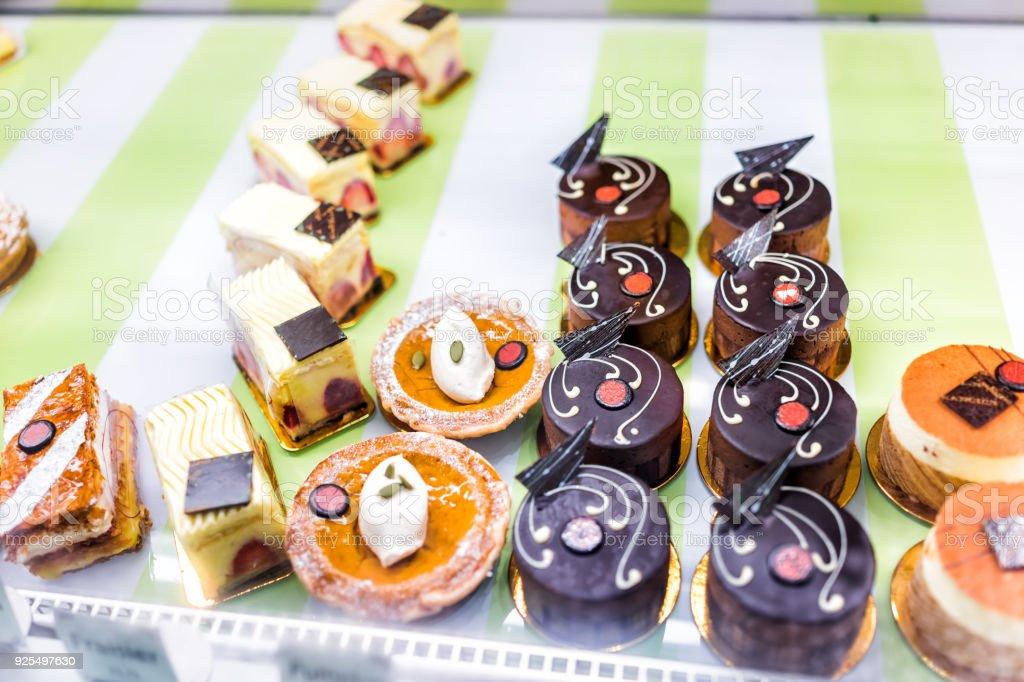 Viele Andere Auswahl Verschiedener Mini Kleine Schokolade Kuchen