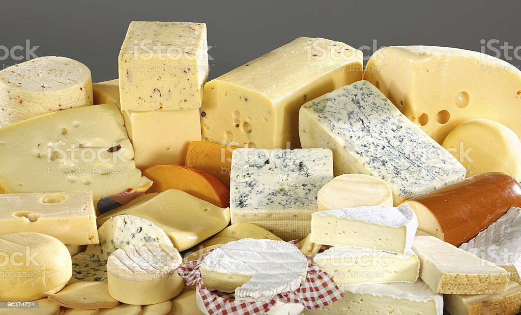 Many different variations of cheese royalty-free stock photo