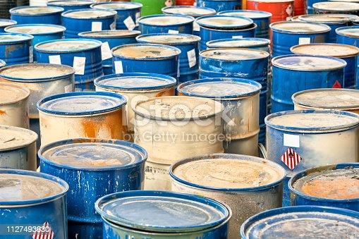 hazardous waste in barrels
