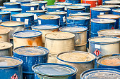 hazardous waste in barrels