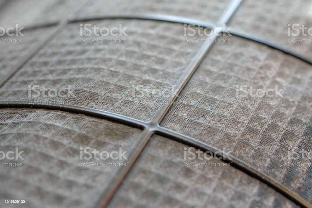 Many dirty dust on the air filter wall stock photo