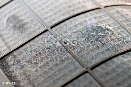 istock Many dirty dust on the air filter wall 813644624