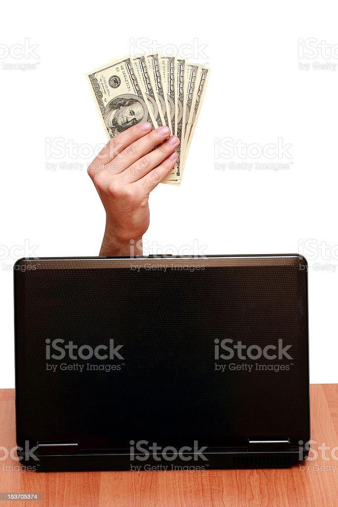 Viele Dollar in der hand – Foto