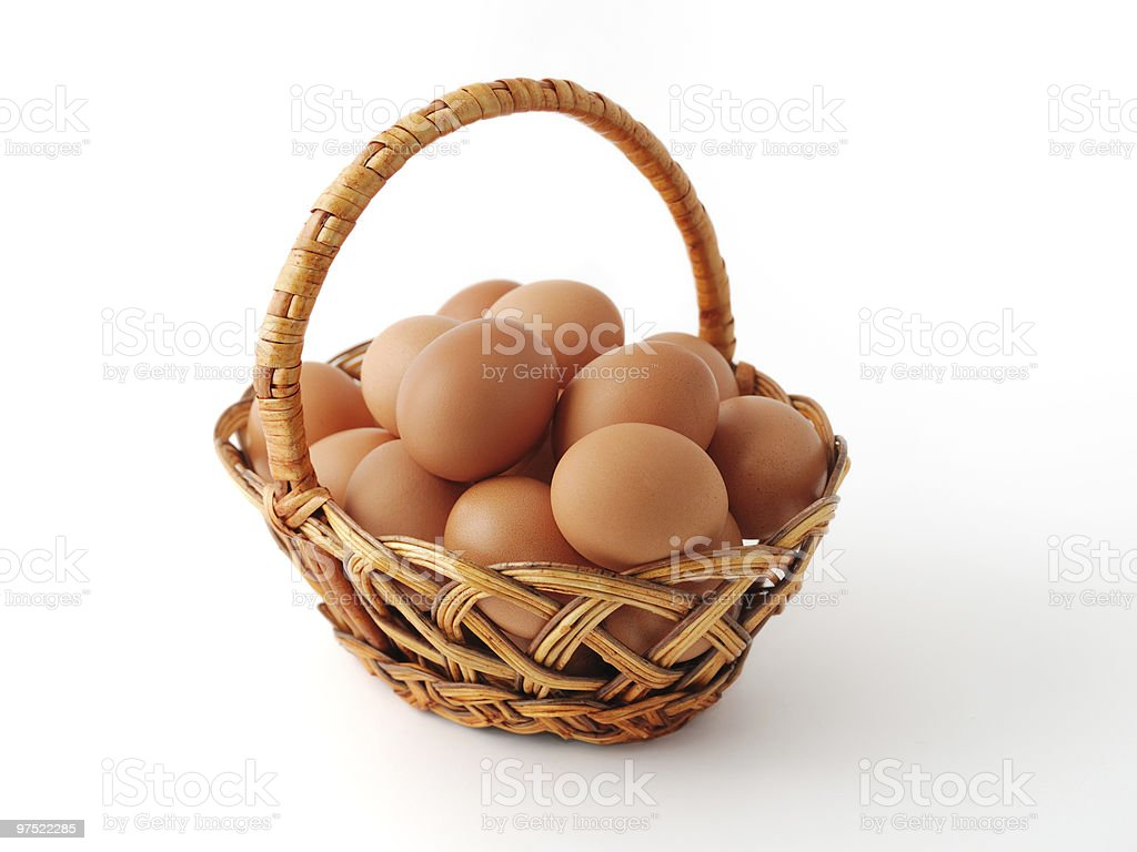 Many eggs in the basket royalty-free stock photo