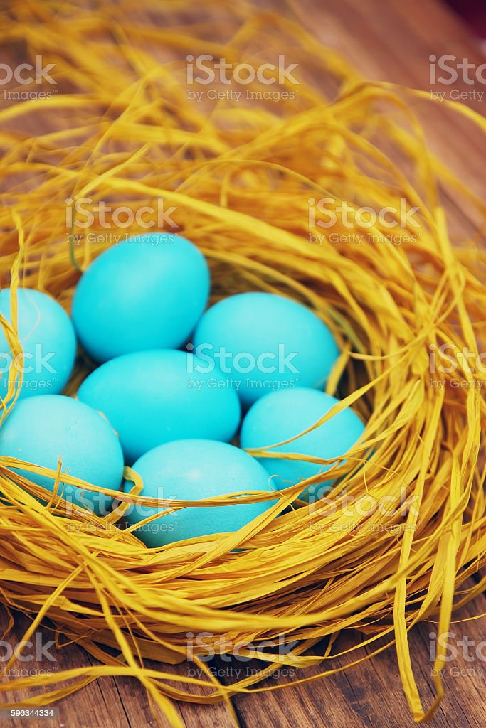 many eggs in the nest royalty-free stock photo