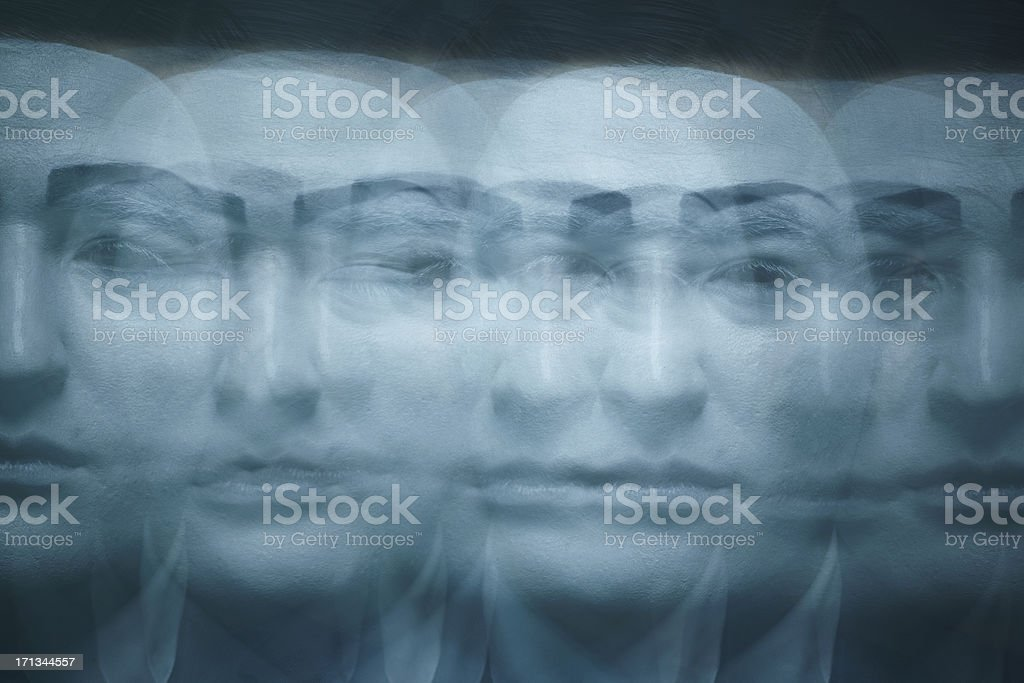 Many faces royalty-free stock photo