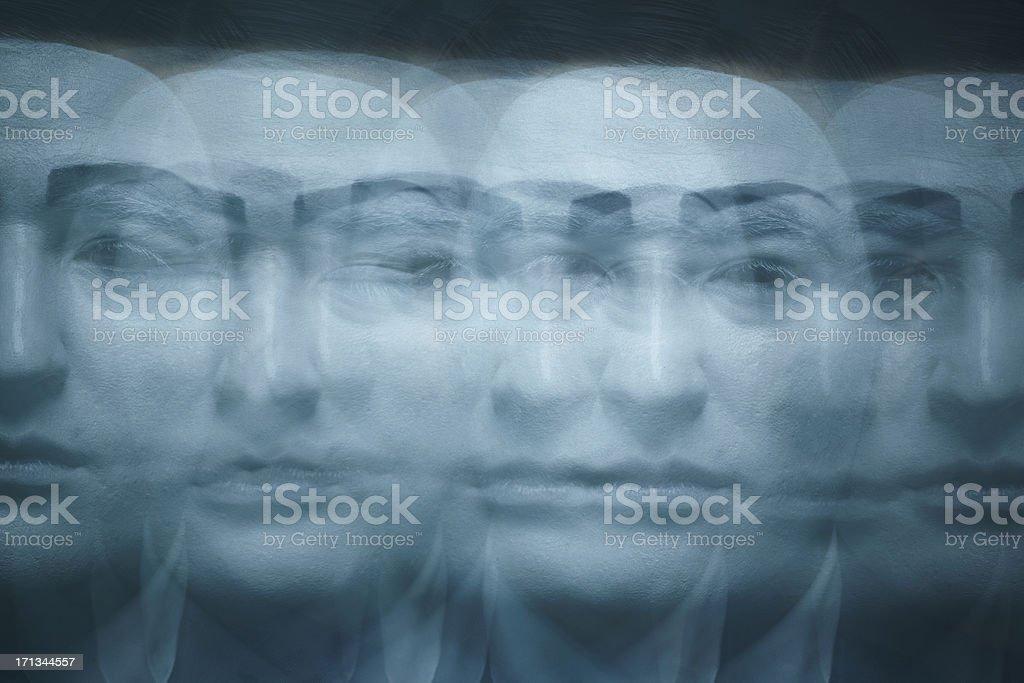 Many faces stock photo