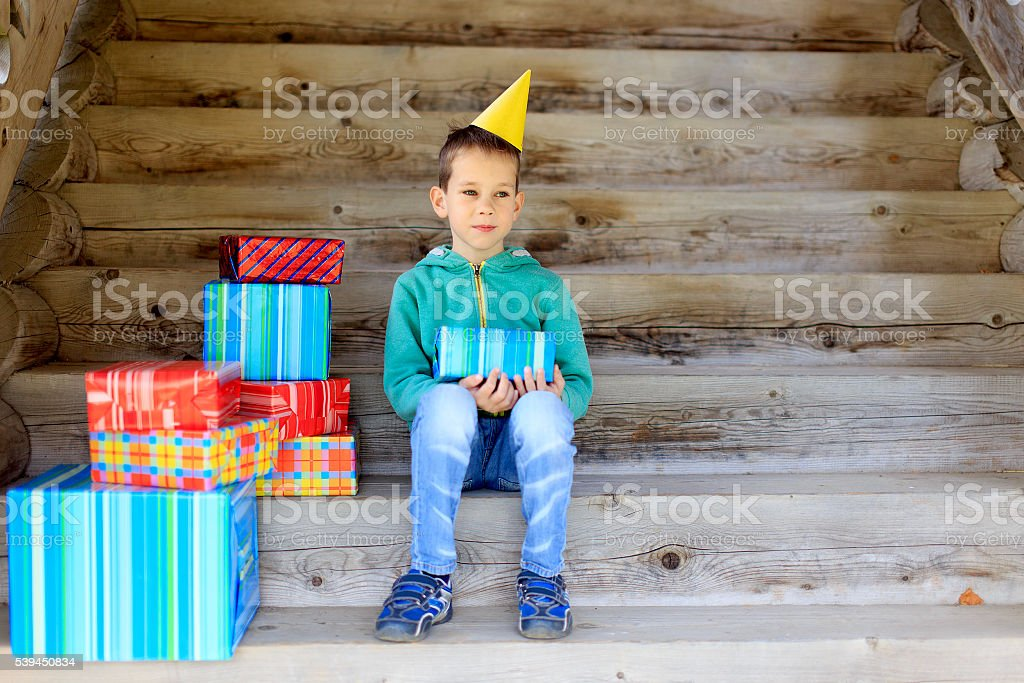 many gifts in birthday stock photo
