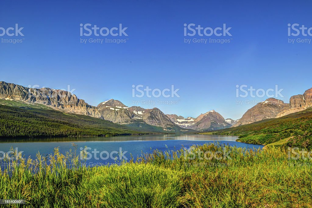 Many Glaciers National Park royalty-free stock photo